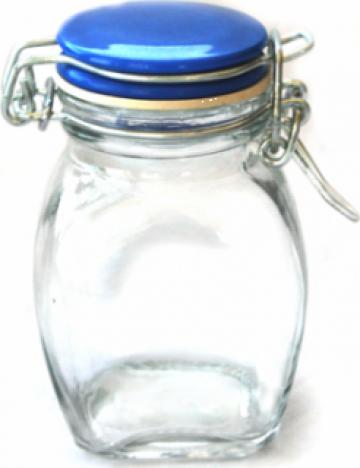 Borcan sticla 120ml inchidere ermetica de la Basarom Com