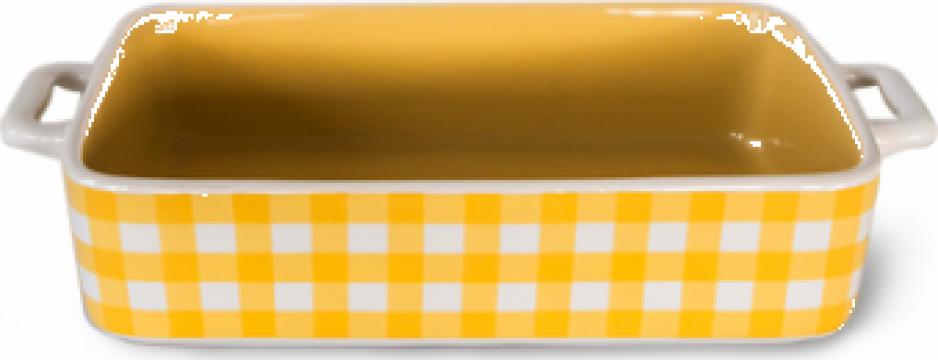 Tava ceramicacopt dreptunghiulara Kare 32,3x19,2x6,2cm de la Basarom Com