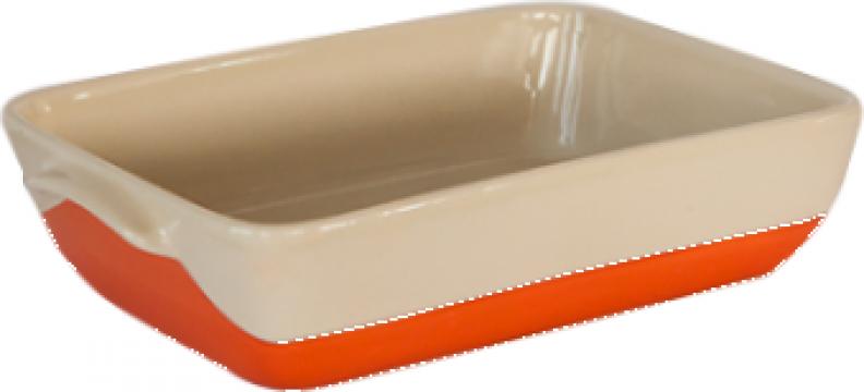 Tava ceramica pentru copt 29x19,5x7cm orange Urban Colors de la Basarom Com