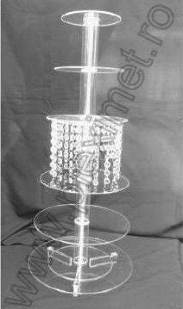 Suport pentru tort cu cristale acrilice SPEv 13.3