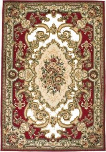 Covor persan, design oriental, 140 x 200 cm, rosu/bej de la Vidaxl