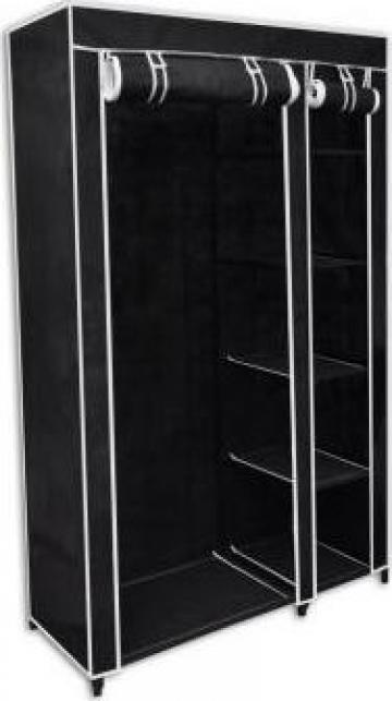 Dulap de haine pliabil, negru, 110 x 45 x 175 cm de la Vidaxl