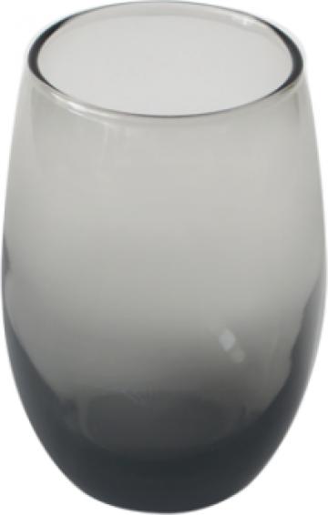 Pahar whisky 460cc Cristar Mikonos fumuriu negru de la Basarom Com
