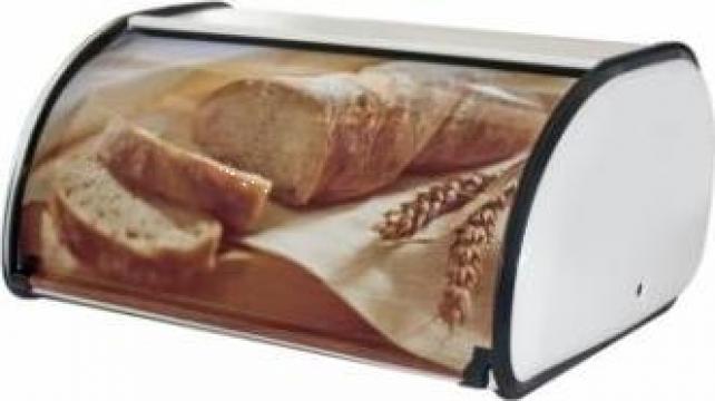 Cutie metalica paine cu decor mica 36x24x15cm de la Basarom Com
