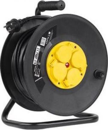 Prelungitor tambur 4 prize-lungime 25m IP44 Kemot de la Electro Supermax Srl