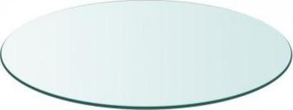 Blat masa din sticla securizata rotund 700 mm de la Vidaxl