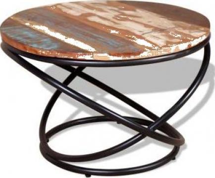 Masuta de cafea din lemn masiv reciclat 60 x 40 cm