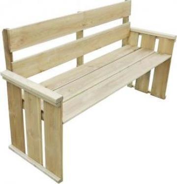 Banca de gradina din lemn pin tratat 160x55x89 cm