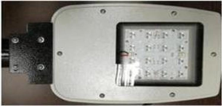 Corp iluminat stradal LED 33W 4000K 4400lm IP65 gri de la Electrofrane
