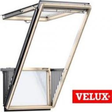 Fereastra balcon Velux Cabrio pentru mansarda de la Sc Ellcor Roof Srl-d