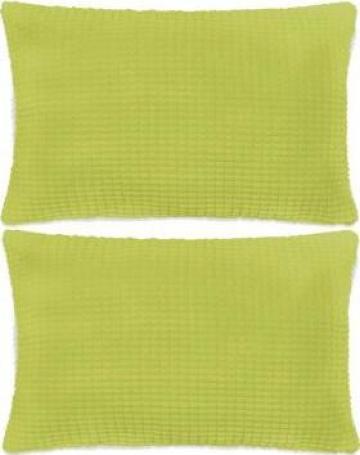 Set perne decorative 2 buc. Velur 40 x 60 cm Verde