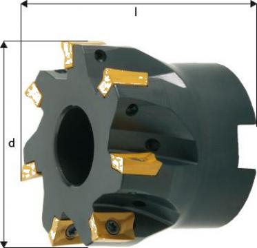 Cap de frezare 90 grade D100mm 13 taisuri APKT10 de la Electrotools