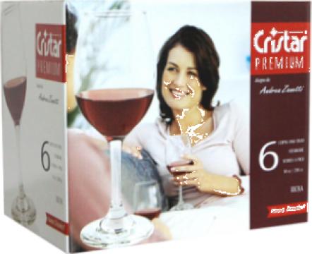 Set pahare pentru vin rosu 6 buc 298cc Cristar Premium de la Basarom Com