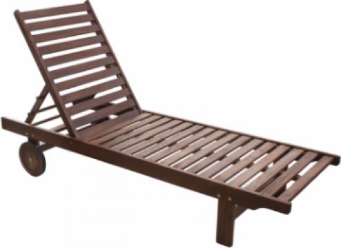 Sezlong lemn Klasik 193x60x30cm de la Basarom Com