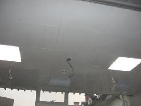 Tavan casetat din aluminiu 600x 600 cu structura ascunsa de la Tavane Cesal