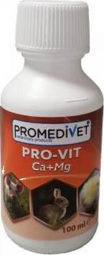 Solutie aditiv furajer Pro-Vit Ca + Mg de la Promedivet