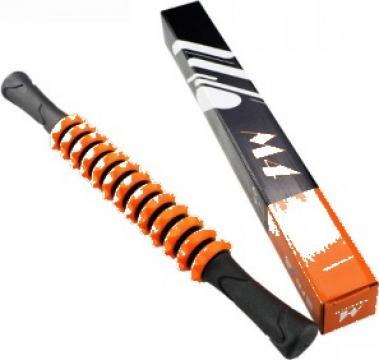 Roller masaj stick cu 13 role portocalii (R125-1) de la Neng Tcm Srl