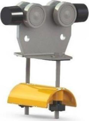 Carucior cablu cu amortizor E30-LWF, WLL=20kg, L=120mm