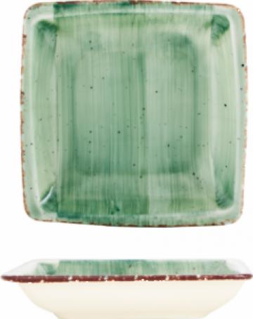 Farfurie patrata supa Gural colectia Green 19x19cm de la Basarom Com
