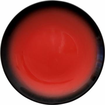 Farfurie desert Gural colectia Marmaris-Black/Red 19cm de la Basarom Com