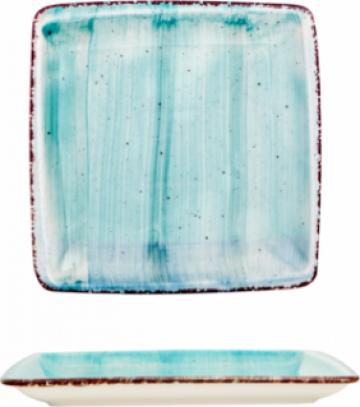 Farfurie patrata supa Gural colectia Turquoise 19x19cm de la Basarom Com