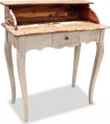 Birou de scris, lemn masiv reciclat 80 x 40 x 92 cm de la Vidaxl