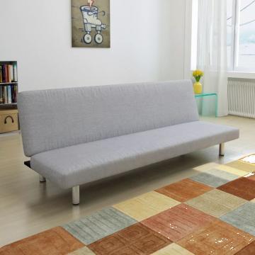 Canapea extensibila, gri deschis de la Vidaxl