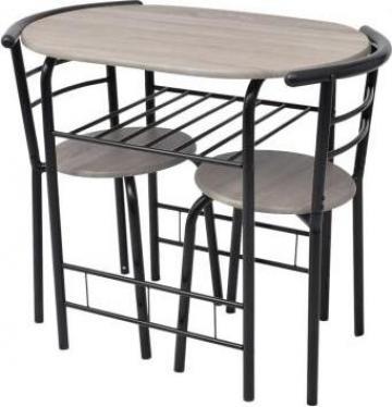 Set mobilier bar mic dejun, MDF de la Vidaxl