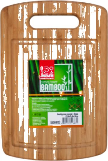 Tocator bucatarie bambus cu bord Raki 23,8x15,9x1,5cm de la Basarom Com