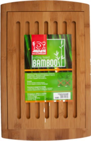 Tocator bucatarie bambus pentru paine Raki 42x27x1,9cm de la Basarom Com