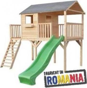 Casuta, din lemn pentru copii, cu doua terase de la Dadi Mob Concept Srl