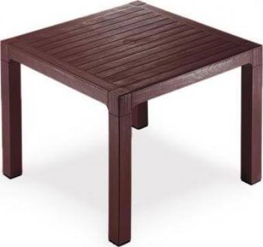 Masa Classi Wood patrata 90x90x75cm culoare cafea de la Basarom Com