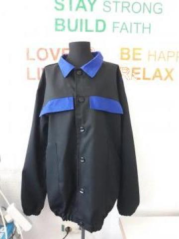 Bluzoane de paza negre cu albastru
