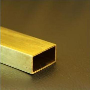 Teava alama rectangulara 40x20x1.5x2100mm CuZn37 CW508L de la MRG Stainless Group Srl