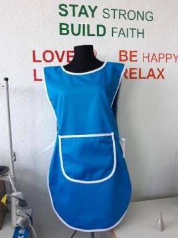 Sort dublu turcoaz pentru firme de curatenie de la Sc Atelier Blue Srl