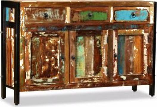 Bufet din lemn masiv reciclat, 120x35x76 cm de la Vidaxl