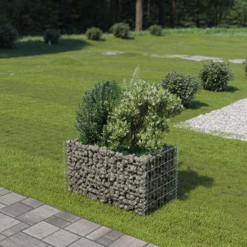 Jardiniera gabion, otel galvanizat, 90 x 50 x 50 cm