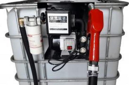Ansamblu cu pompa motorina cu contor si bazin