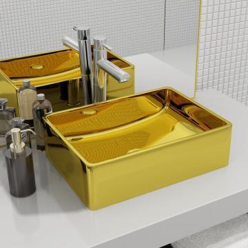 Chiuveta de baie, auriu, 41 x 30 x 12 cm, ceramica