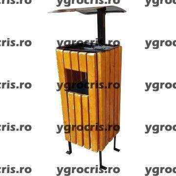 Cos de gunoi patrat cu scrumiera 972 de la Ygrocris Dorally Steel Srl