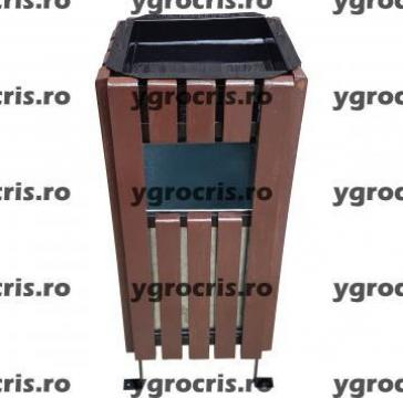 Cos de gunoi cu scrumiera 959 de la Ygrocris Dorally Steel Srl