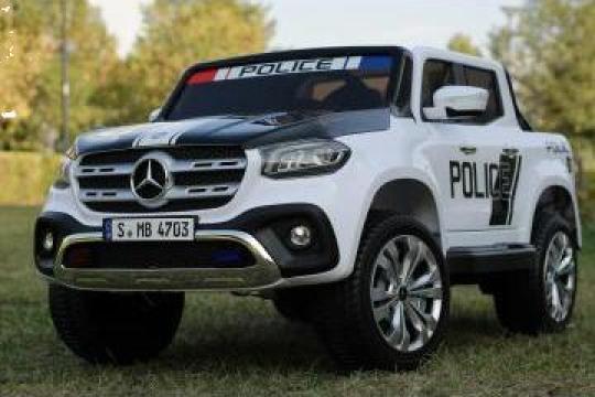 Jucarie Masinuta electrica de politie Mercedes X-Class 4x4