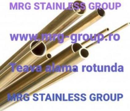 Teava alama rotunda 15mm CW508L CuZn37 W2.0321 Brass tube
