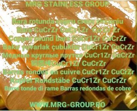 Bara cupru rotunda CuCrZr Crom Zirconiu CuCr1Zr alama bronz de la MRG Stainless Group Srl