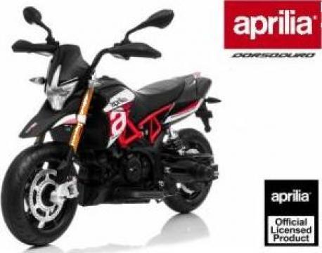 Jucarie motocicleta electrica copii Aprilia Dorsoduro 900 de la SSP Kinderauto & Beauty Srl