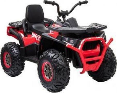 Jucarie ATV electric copii BJ607 12V 90W cu scaun tapitat