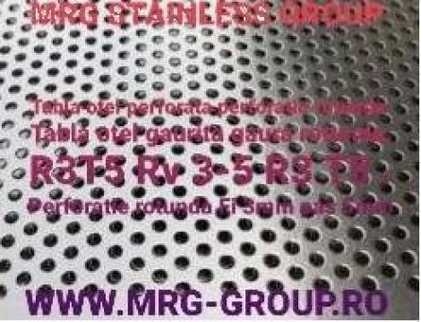Tabla otel perforata 1x1000x2000mm R3T5 gaurita sita de la MRG Stainless Group Srl
