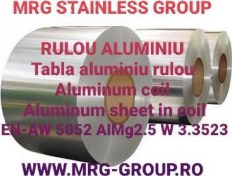 Rulou aluminiu 0.75x1000mm EN-AW 5052, tabla rulou aluminiu