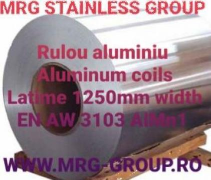 Rulou aluminiu 0.7x1250mm EN-AW 3103 AlMn1 1050A Al99.5