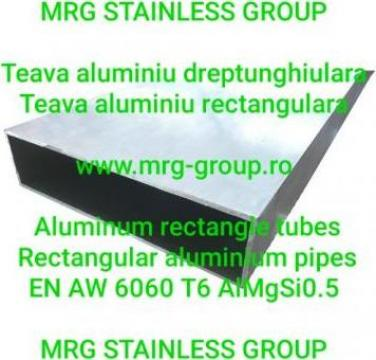 Teava aluminiu rectangulara 100x20x1.6mm, 100x20x2mm AlMgSi